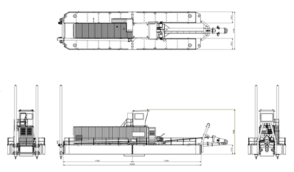 Linedrawing Cutter Suction Dredger